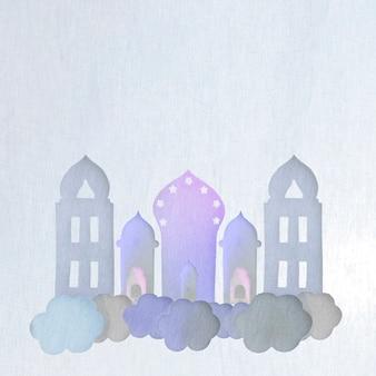 Tours placées sur des nuages