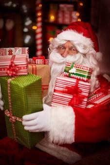 Tous ces cadeaux sont pour les enfants