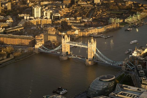Tower bridge, londres, vue de dessus