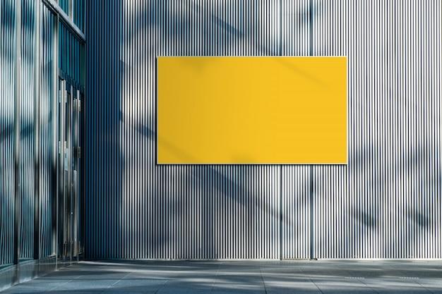 Tracé de détourage inclus affiche horizontale vide