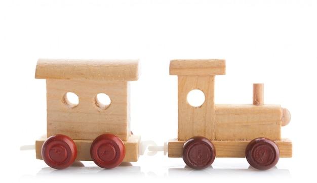 Train jouet en bois