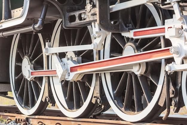 Train à vapeur, roues.