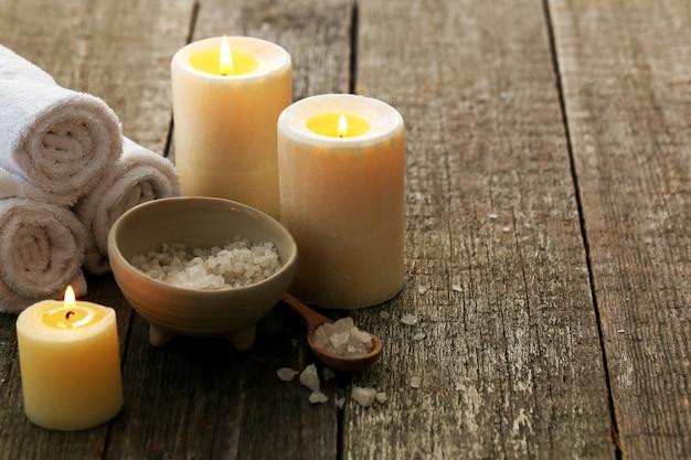 Traitement d'aromathérapie avec des bougies