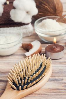 Traitement capillaire naturel à la noix de coco