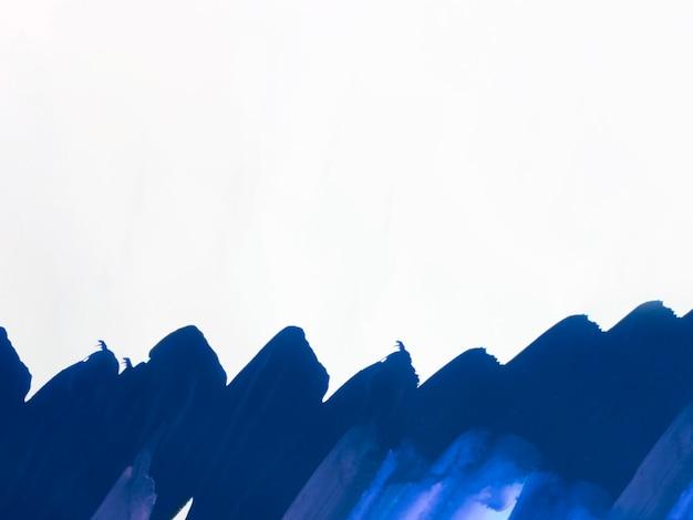 Traits bleu foncé avec espace de copie
