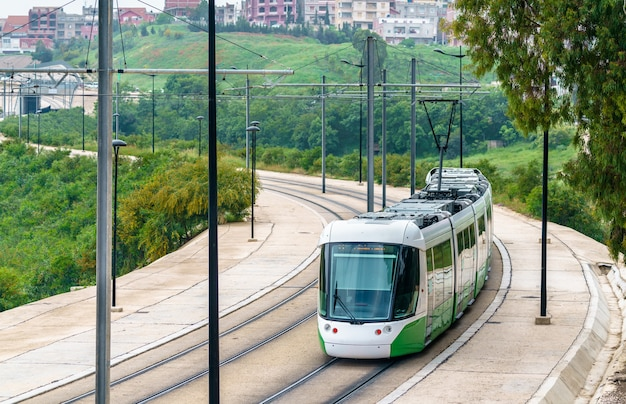 Tramway de la ville de constantine - algérie, afrique du nord