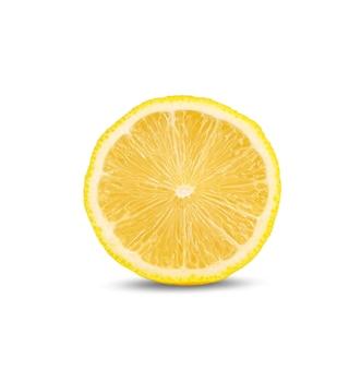 Tranche de citron isolé sur blanc