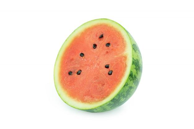 Tranche de melon d'eau isolé