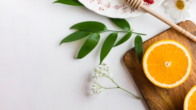 Tranche plate orange tranchée