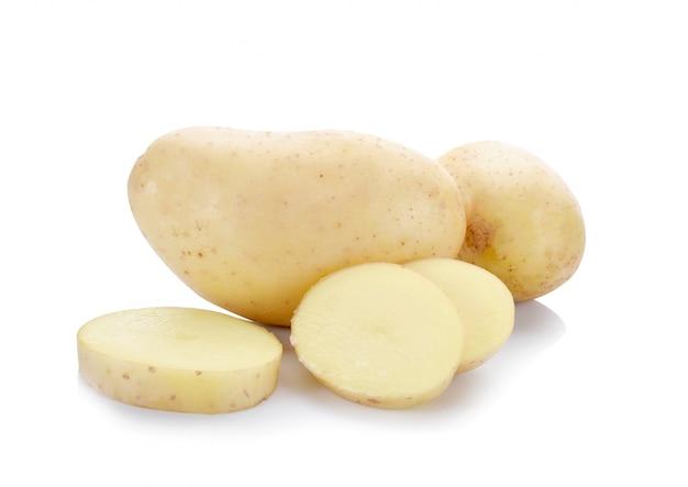 Tranche de pommes de terre isolée