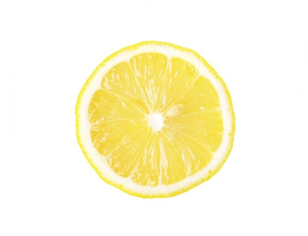 Tranches de citron isolé et un tracé de détourage