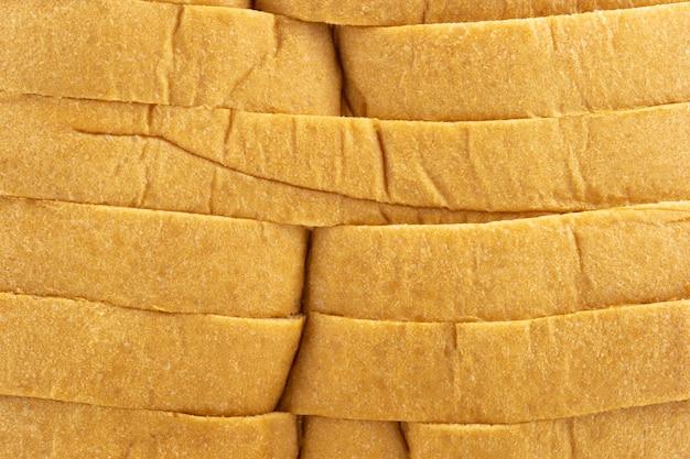 Tranches de fond de texture de pain blanc.