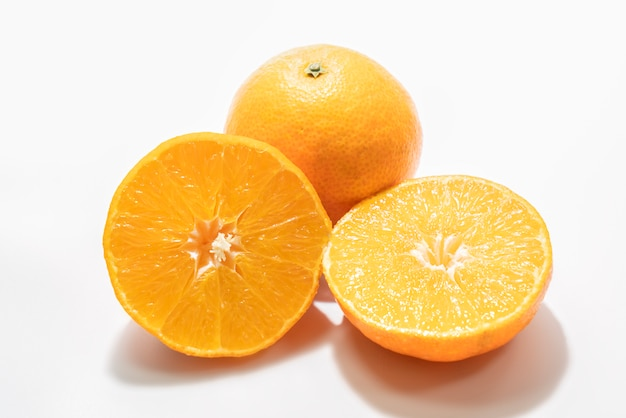 Tranches de fruits orange