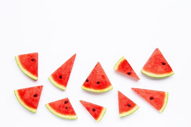 Tranches de melon d'eau isolé