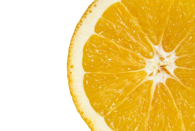 Tranches d'orange juteuse close up