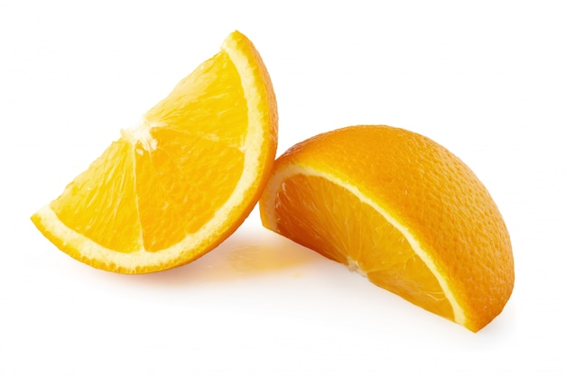 Tranches d'oranges fraîches et orange