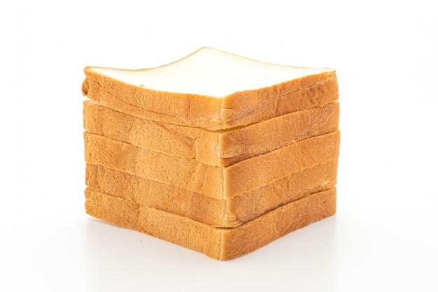 Tranches de pain sur blanc