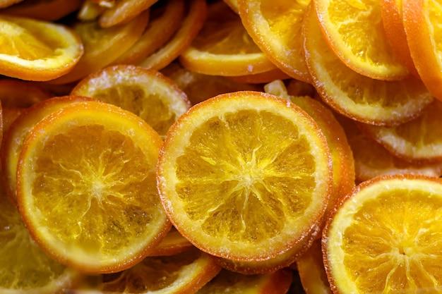 Tranches séchées fond orange