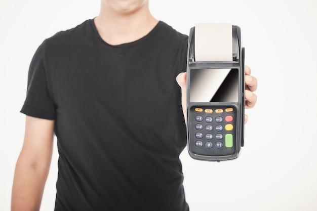 Transaction de vente au détail main d'affaires