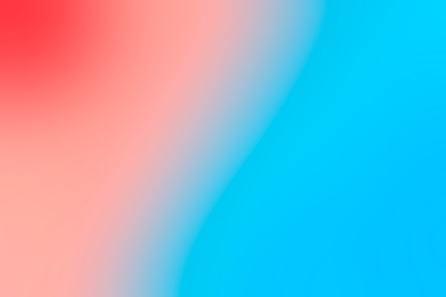 Transition douce du bleu et du rouge
