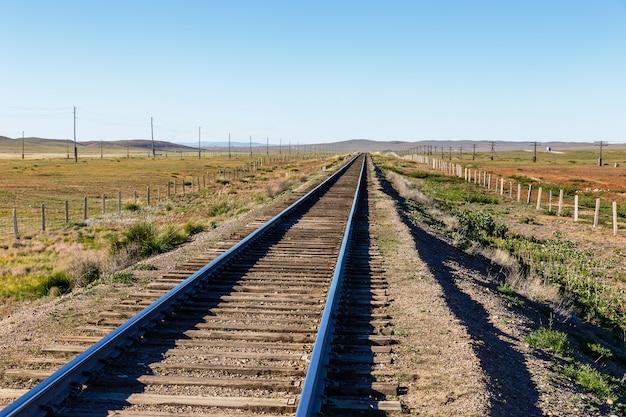 Transmongol railway, voie ferrée à voie unique