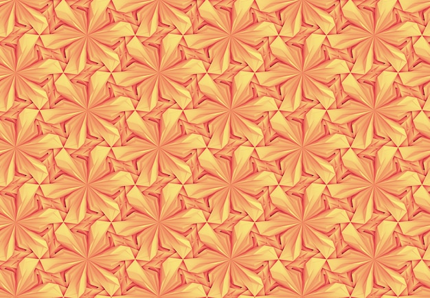 Transparent motif orange-jaune