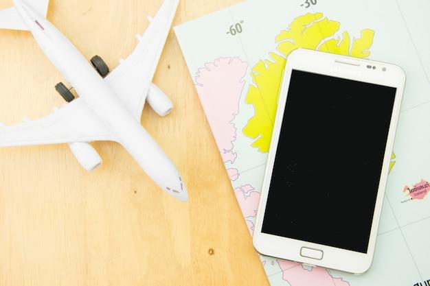 Transport de voyage concept avec avion.