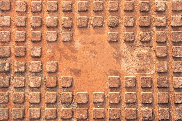 Trappe d'égout rouillée humide