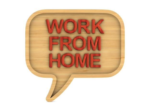 Travail à domicile. rendu 3d isolé