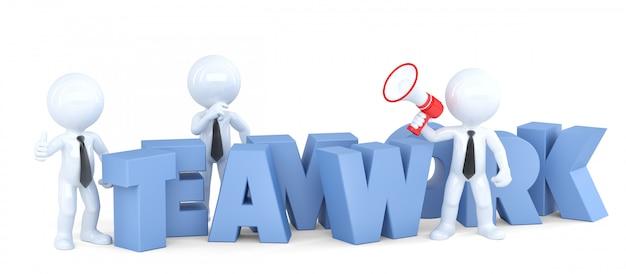 Travail en équipe. concept d'entreprise. isolé. contient un tracé de détourage