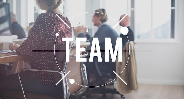 Le travail d'équipe de l'équipe de l'unité de connexion de collaboration concept
