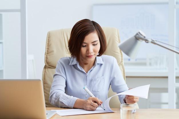Travailler avec un document commercial