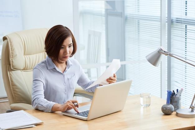 Travailler sur ordinateur