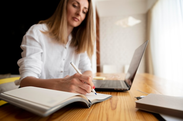 Travailler à partir du concept de gestion du temps à domicile