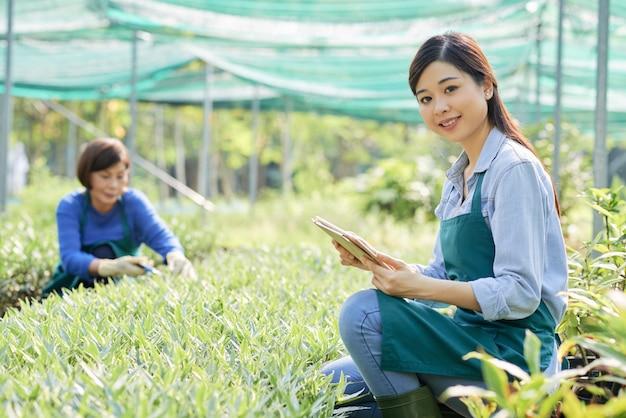Travailleur de plantation de thé