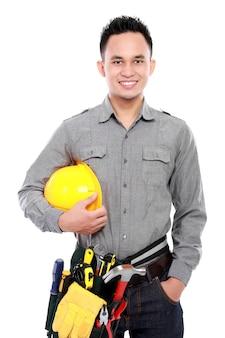 Travailleur prêt à travailler