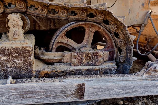 Travaux de bulldozer d'excavatrice d'industrie de grande machine de construction