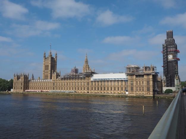 Travaux de conservation du parlement à londres