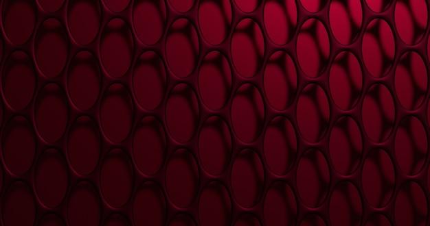 Treillis 3d. mur abstrait avec des cellules de la grille. rendu 3d