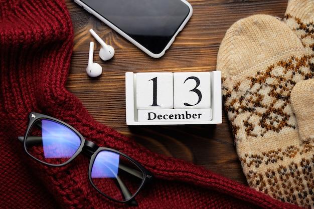 Treizième jour du calendrier du mois d'hiver décembre.