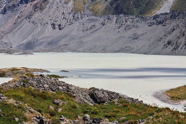 Trekking dans la vallée de hooker, nouvelle zélande