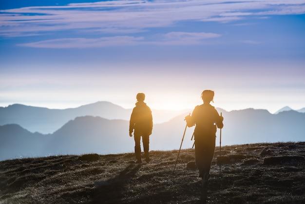 Trekking en silhouette