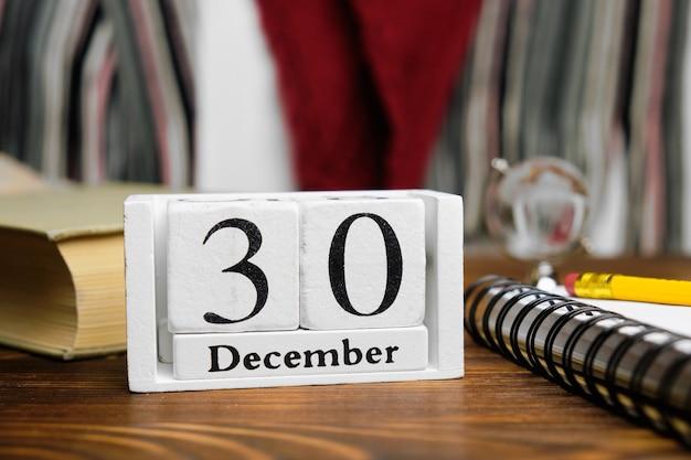 Trentième jour du calendrier du mois d'hiver décembre.