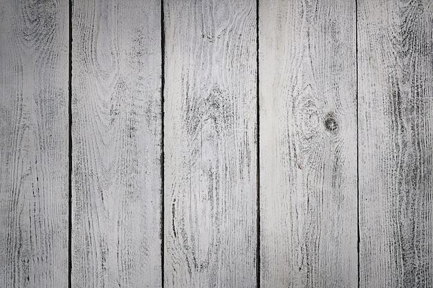 Très vieux fond de planche de bois blanc texturé, blanc