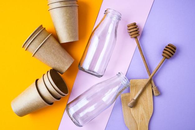 Tri des déchets ménagers pour le recyclage comme concept de conservation de l'environnement