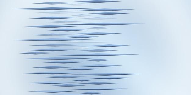 Triangle hérissé abstrait géométrique illustration 3d