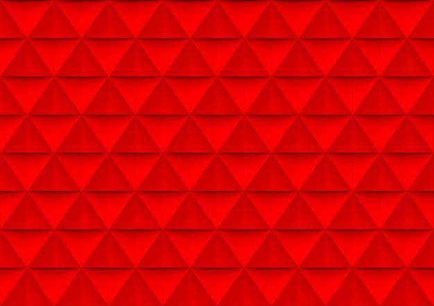 Triangle rouge moderne sans soudure polygone forme mur de fond.