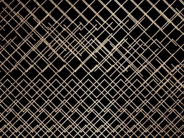 Triangles de lignes d'or abstraites sur fond noir illustration créative de conception moderne
