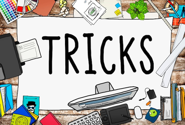 Trick Treat Risk Hide Player Magic Halloween Concept Photo gratuit