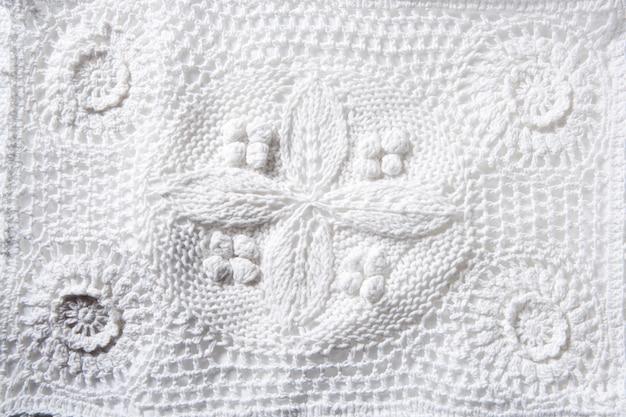 Tricot de coton piqué avec une texture macro